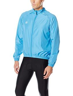 Canari Men's Solar Flare Wind Shell Jacket, Electric Blue, X