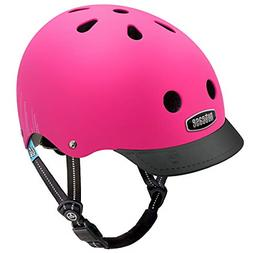 Nutcase - Solid Street Bike Helmet for Adults, Fuchsia Matte