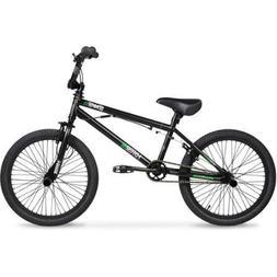 """20"""" Hyper Spinner Pro Boys' BMX Bike, Black/Green"""