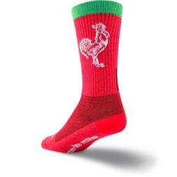 SockGuy Men's Sriracha Crew Sock, Red, Shoe Size: 9-13
