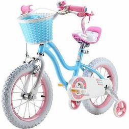RoyalBaby Stargirl Girl's Bike, 14 inch Wheels, Blue 14 in