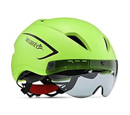 EyeGlow Stylish Adult Road Bike Helmet with Visor Protector