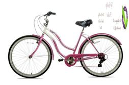 Susan G Komen 7-Speed Beach Cruiser Bike