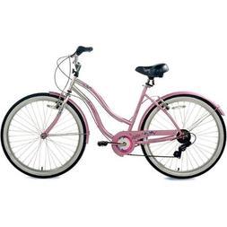 "26"" Susan G. Komen Multi-Speed Women's Cruiser Bike with Del"