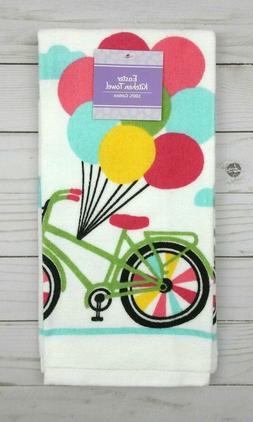 Terrycloth Kitchen Towel Bike Bicycle Balloons