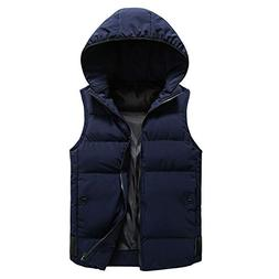Thick Vest Jacket Top Men's Autumn Winter Coat Padded Cotton