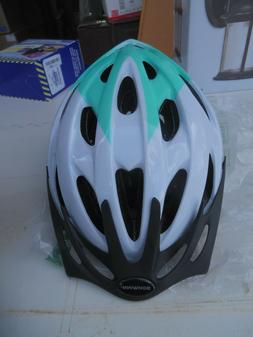 Schwinn Thrasher Adult Microshell Bicycle Helmet White/Teal
