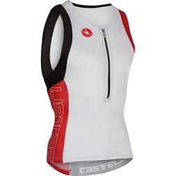 Castelli Free Tri Top - Sleeveless - Men's White/Red, L