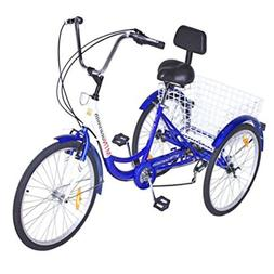 Popsport 24 inch Adult Tricycle Series 6/7 Speed 3 Wheel Tri
