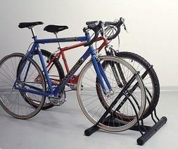 Racor Two-Bike Floor Bike Stand Storage, Tire, Home, Garage,