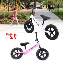 "Unisex Kids 12"" Balance Bike Classic No-Pedal Learn To Ride"