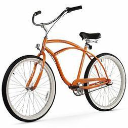 """Firmstrong Urban Man Beach Cruiser Bicycle Orange 26"""" / 3-Sp"""
