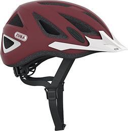 Abus Urban-I Helmet with Integrated LED Taillight, Marsala R