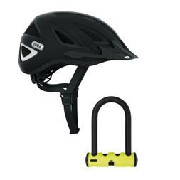 Abus Urban-I Ventilated Bike Helmet with Taillight and U-Loc