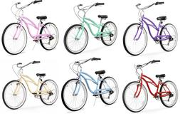 "Firmstrong Urban Lady 7 Speed Women's 26"" Beach Cruiser Bike"