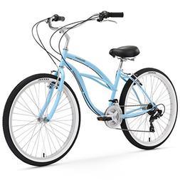 Firmstrong Urban Lady 21-Speed Beach Cruiser Bicycle, 26-Inc