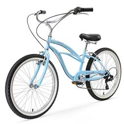 Firmstrong Urban Lady 7-Speed Beach Cruiser Bicycle, 24-inch