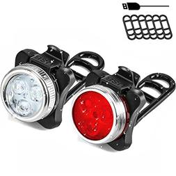 SOKLIT USB Rechargeable Bike Light Front and Rear Waterproof