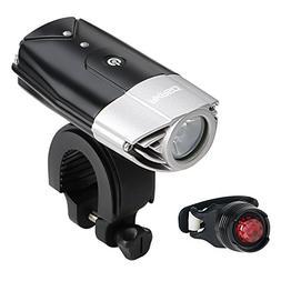 AKASO USB Rechargeable Bike Light Set, Bicycle Lights Front