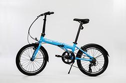 EuroMini Via 26lb Folding Bike-Lightweight Aluminum Frame Ge