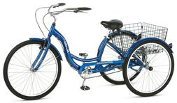 Vintage Bicycle With Rear Folding Basket For Grocery 3 Wheel
