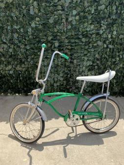"Vintage🔥 Schwinn Sting-Ray Green 20"" Wheel Bike Banana Pe"