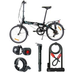 Dahon Vybe D7 Folding Bike  Ready-to-Ride Bundle with Mini P
