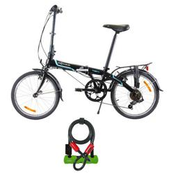 Dahon Vybe D7 Folding Bike  with Abus 410 Ultra U-Lock Shack