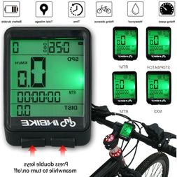 Waterproof Digital Wireless Cycling Bike Bicycles Computer O