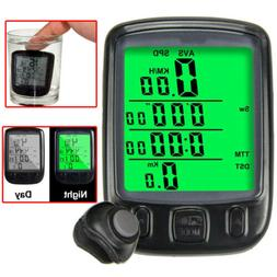 Waterproof LCD Digital Computer Bicycle Bike Backlight Speed