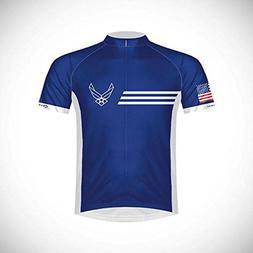 Primal Wear Men's U.S. Air Force Vintage Cycling Jersey, Blu