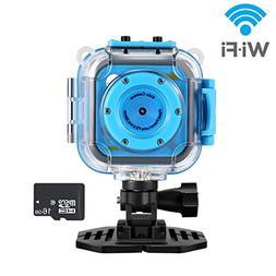 WIFI Waterproof Kids Action Camera, Digital Sports Camera fo