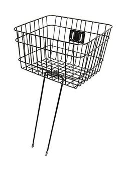 Firmstrong Wire Metal Bicycle Basket, Black