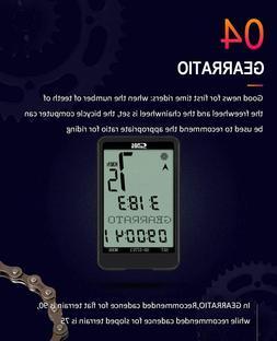 SUNDING Wireless Bicycles Computer Monitor Bikes Speedometer