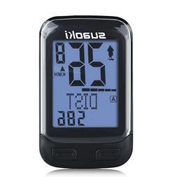 SUAOKI Wireless 2.4GHz Transmission Bike Cycling Computer wi