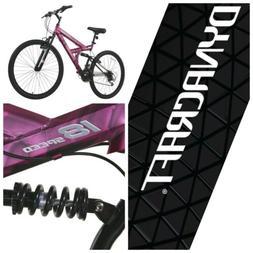 DYNACRAFT Women's Mountain Bike 26-inch Wheels 18 Speed PINK
