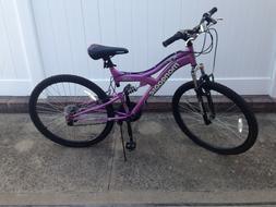 "Womens Mongoose 27"" Mountain Bike Black and Purple New Condi"