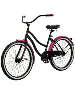 "24"" Huffy Cranbrook Cruiser Pink Black- BRAND NEW IN BOX"