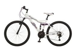 "🔥 Mongoose Women's Mountain Bike 26"" Inch 21 Speed Whit"