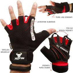 WyoX Bicycle Bike Gloves FingerlessGel Padded Shockproof Glo