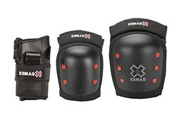 X-Games Big Air Pro Deluxe Youth Elbow, Knee and Wrist Pad S